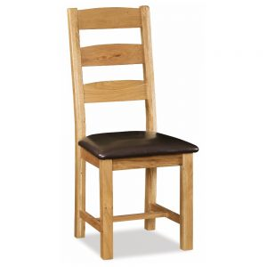 ladder back chair in oak